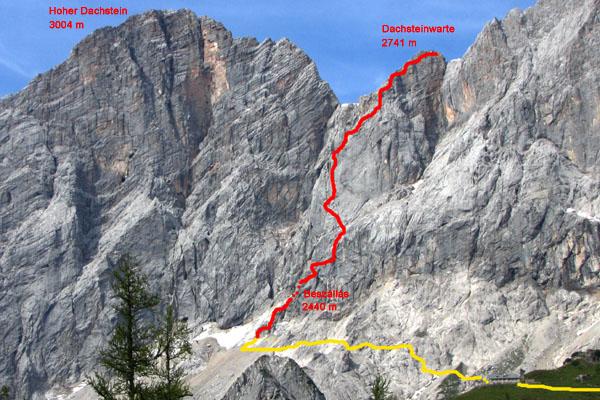 Klettersteig Johann Dachstein : Hegyvilág online klettersteig johann sÜdwand